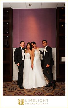 # stepintothelimelight #limelightphotography #photography #hilton #tampa #hiltondowntowntampa #florida #wedding #bride #groom #dress #bouquet #flowers #white #suit  #mrandmrs #love #couple #portrait #sisters #twogrooms #twobrides #doublewedding
