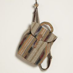 Earthy Striped Carpet Backpack