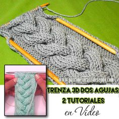 Cómo tejer trenza dos agujas en relieve tutorial en video