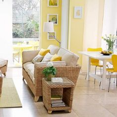 Grey and Lemon Living Room | Contemporary Living Room | Yellow ...
