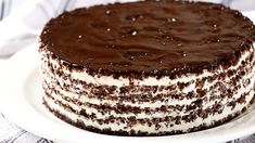 It is made very easy and with economical ingredients. Because of its taste it seems to be a cake from a good bakery. Baking Recipes, Cake Recipes, Dessert Recipes, Desserts, No Bake Chocolate Cake, Good Bakery, Cake Servings, Food Humor, Sweet Bread