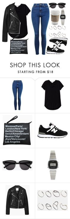 """Style #11325"" by vany-alvarado ❤ liked on Polyvore featuring Topshop, Wilfred, New Balance, Yves Saint Laurent, Casio, MANGO and ASOS"
