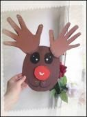 Reindeer: trace of hand - Manual activity and DIY for child - # Activity . Christmas Crafts For Kids, Christmas Activities, Christmas Projects, Kids Christmas, Holiday Crafts, Activities For Kids, Christmas Decorations, Christmas Ornaments, Theme Noel