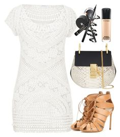 maurices Crocheted Tunic by thestyleartisan on Polyvore featuring maurices, Francesco Russo, Chloé, MAC Cosmetics and saddleup