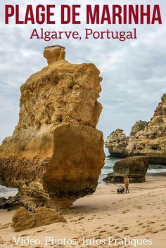 Découvrez une des plus belles plages du Portugal : la plage de Marinha (Praia da Marinha) – Falaises impressionantes, formations rocheuses, pinnacles, arches… Des vues à couper le soufflé depuis les falaises, la plage ou la mer… Photos, Video et infos pratiques pour planifier votre visite |Portugal Paysage | Portugal Plage | Algarve Portugal | Algarve Plage | Portugal voyage