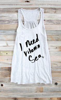 I Need Vitamin Sea Vitamin Sea Tank Tank Tops by PowderAndSea
