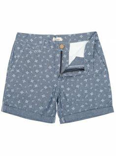 Another Influence Blue Paisley Pattern Chambray Shorts Go Blue, Paisley Pattern, Chambray, Indigo, Bermuda Shorts, Denim, Stylish, Shirts, Color