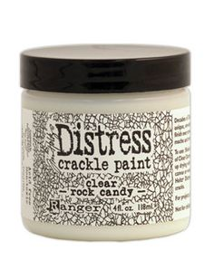 Ranger Distress Crackle Paint  Clear Rock Candy by thefunkiejunkie, $7.00. This product should be used for crackling furniture if it is an heirloom piece. A lot of people use Elmer's Glue. But it will turn brown from acid over time. Keep your project always clear with Clear Rock crackle paint.