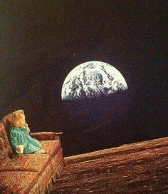 Cookies & Earthrise ¦ Raul Ruzzene ¦ Paper Collage ¦ 2014