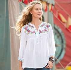SOFT BLOOMS TUNIC