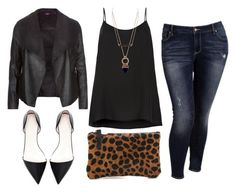 Skinny Jeans/ Long Flowy Black Tank/ Black Leather Jacket/ Black Pointed Toe Flats/ Cheetah Clutch possible Vegas outfit Fashion Night, Cute Fashion, Look Fashion, Autumn Fashion, Fashion Outfits, Womens Fashion, Woman Outfits, Fashion Black, Fashion Ideas