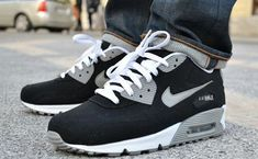 NIKE AIR MAX 90 CANVAS BLACK