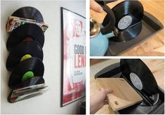 Reusing old vinyl records 1 Reusing Old Vinyl Records - I have some of these and boiling water. ;)
