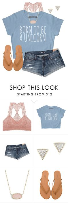 """Stoked for the upcoming 4 day weekend"" by auburnlady ❤ liked on Polyvore featuring Youmita, Hollister Co., Adina Reyter, Kendra Scott and Tkees"
