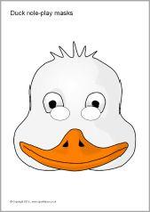 Duck role-play masks (SB9172) - SparkleBox