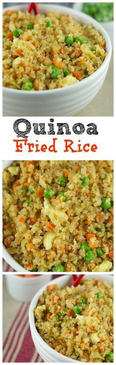 Fried Rice This Quinoa Fried Recipe requires only 10 minutes to make and its so delicious Fresh veggies and quinoa make a healthy and satisfying combination Try itThis Qu. Healthy Cooking, Healthy Snacks, Healthy Eating, Cooking Recipes, Clean Eating, Healthy Dishes, Slow Cooking, Cooking Tips, Vegan Recipes