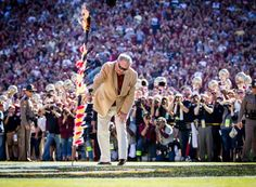 Bobby Bowden planting the spear, October, 2013