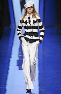 Nautical outfit. Striped jacket. Luv it! - #nautical