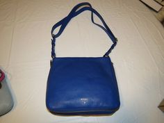 Fossil ZB5874439 Preston Crossbody Sapphire blue Xbody leather purse NWT*^ #Fossil #CrossBody