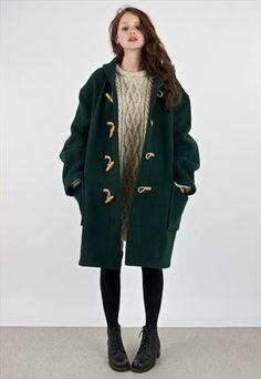 Vintage 1970's Super Oversized Duffle Coat