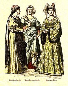 Italian Girl, Noblewoman, Lady of Siena - 14th Century