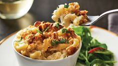 For a gourmet take on the ultimate comfort food, try our Mac & Blue Cheese with Walnut Topping recipe. Go ahead and give it a try tonight! Blue Cheese, Stew, Yummy Treats, Macaroni And Cheese, Vegetarian, Tasty, Lunch, Meals, Dishes