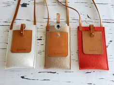 Felt Wallet, Purse Wallet, Tan Leather, Leather Wallet, Leather Bags, Iphone 6, Leather Scraps, Bronze, Modeling