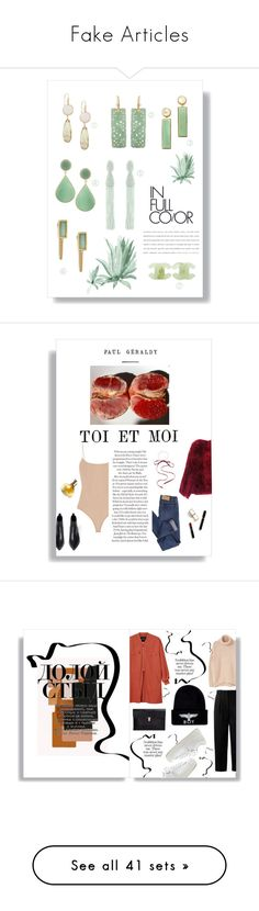 """Fake Articles"" by coursdeau ❤ liked on Polyvore featuring Michael Kors, Eva Hanusova, Chanel, Emporio Armani, Lizzie Fortunato, Oscar de la Renta, Acne Studios, Retrò, Cheap Monday and Maryam Keyhani"