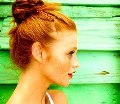 Cintia Dicker - buns just look so cute on redheads~