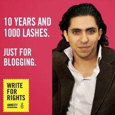 Western ally #SaudiArabia flogs blogger RaifBadawi for insulting #Islam. #JeSuisRaif #FreedomOfSpeech #CharlieHebdo