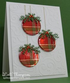 - Wrapped Ornaments - More by Loll Thompson - Cards and Paper Crafts at S. - crafts cards – Wrapped Ornaments – More by Loll Thompson – Cards and Paper Crafts at S… - christmas dekoration Homemade Christmas Cards, Christmas Cards To Make, Christmas Greetings, Homemade Cards, Holiday Cards, Christmas Diy, Chrismas Cards, Christmas Drinks, Christmas Vacation