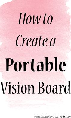 So smart! Create a portable vision board to take with you everywhere you go. I feel like that makes it a lot easier to focus on your goals!