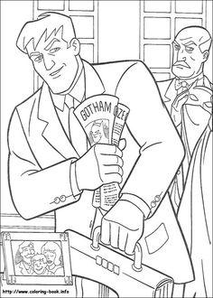 Villains Batman Color Page Cartoon Characters Coloring Pages