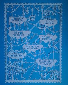 Papercut  Happiness is like a butterfly by allcutupbydg on Etsy, £125.00