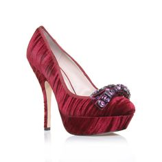chloe, red shoes! Like these. Not very practical or summery???