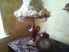 SALE Shabby Chic Lampshade by maryberard on Etsy, $40.00
