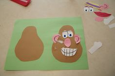 Mr potato head craft good for learning names of the body parts on the face (eyes, ears, nose , etc)