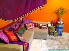 Moroccan decor - amazing color's. Exactly what you see in the magazine's.