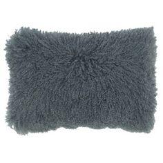 Sheepskin Pillow 13x20 Steel, $98, now featured on Fab.