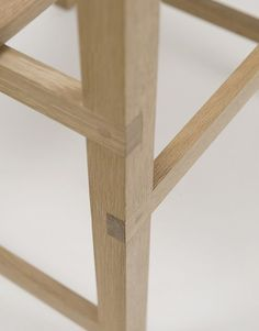 American designers Von Tundra have created an oak dining chair with a raw maple seat and backrest. Called Prairie Chair, it's constructed using pegged T halving joints where the rails sit inside notches cut in the legs. The project draws on vernacular furniture from the American Midwest. Here's some more information from the designers: -- More