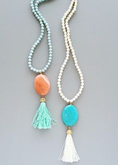 Kaleidoscope Tassel Necklace - in 2 colors from Pree Brulee. Saved to Jewelry - Let's Sparkle!.