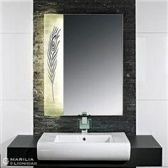 989703221 Beleuchteter Spiegel mit Natur-Motiv Marilia