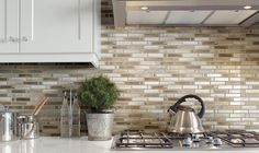 Use peel-and-stick sheets of tile backsplash for quick and easy installation.