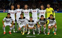 MOSCOW, RUSSIA - SEPTEMBER 27: Tottenham Hotspur players line up prior to the UEFA Champions League Group E match between PFC CSKA Moskva and Tottenham Hotspur FC at Stadion CSKA Moskva on September 27, 2016 in Moscow, Russia