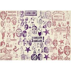 Lucha Libre wrapping paper!                                                                                                                                                                                 Más