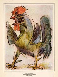 The Cock - Pablo Picasso, 1959.
