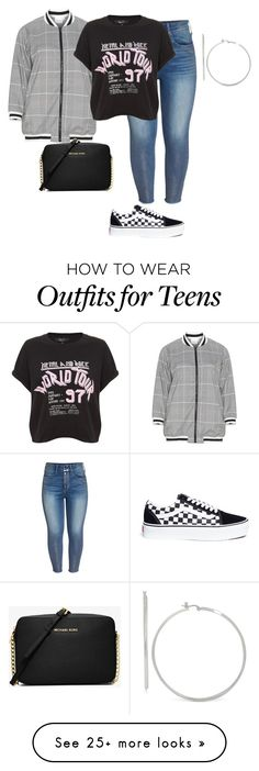 """My Plus Personal Casual Style/Saturdays"" by xtrak on Polyvore featuring Zizzi, Seven7 Jeans, Touch of Silver, Vans, Michael Kors and plus size clothing"