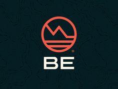 Be Logo design brand branding southern california mountain adventure outdoor logo be Outdoor Logos, Outdoor Brands, Logo Branding, Branding Design, Cloud Drawing, Jordan Logo, Vans Logo, Modern Logo, Sports Logo
