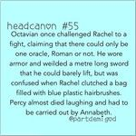 Rachel nailed the Titan Lord in the eye with a blue plastic hairbrush. Octavian couldn't stand a chance