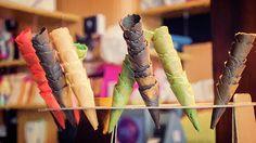 Gelato Cones - Joan Carroll  #gelato #cones #dessert #food #sweets #icecream